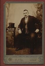 Gillingham. G J Cox. Cowper Road. Gentleman Antique  Cabinet Photograph   q460