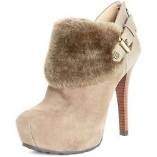 gues faux fur cuff booties size 9M