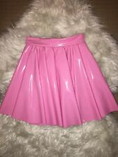 Black Milk Clothing XXS Princess Pink PVC Disney Cheerleader Skirt Blackmilk
