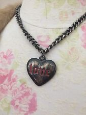 Junk Gypsy Chunky Love Heart Necklace Rockabilly