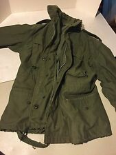 Vintage Original Vietnam Field Coat Jacket Hood Small Short OG-107 Green US Army