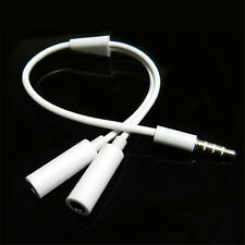 3.5mm Headphone 1Male to 2Female Y Splitter Audio Mic Adapters Cable for iPhone