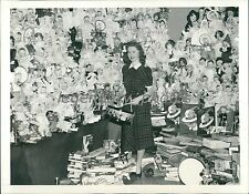1938 Charmione Wheelers with Donated Dolls and Gifts Original News Service Photo