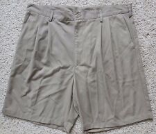 NIKE Mens GOLF Shorts 38 Taupe BEIGE Men SZ Size PLEATED Polyester SHORT Dri Fit