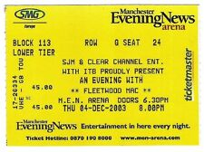 FLEETWOOD MAC Manchester 2003 used TICKET