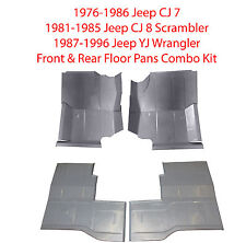 1976-1996 Jeep CJ 7,CJ 8 Scrambler & YJ Wrangler Front & Rear Floor Pans, Kit