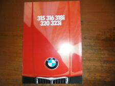 Prospekt Sales Brochure BMW 315 316 318i Car Auto 329 323i    автомобиль