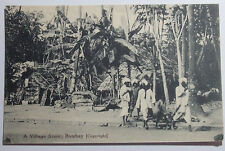 1907 POSTCARD OF A VILLAGE SCENE OF THE NATIVES IN BOMBAY INDIA UNPOSTED