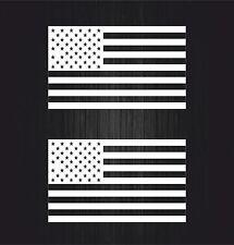2x sticker aufkleber auto motorrad weiß usa flagge vereinigte staaten amerika