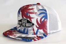 Vans Classic Patch Trucker Hat Mens Red White Blue Tropical Palms Snapback NWT