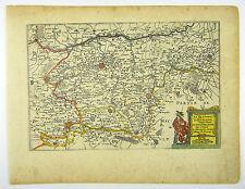 FRANZÖSISCH FLANDERN TOURNAI DOUAI KOL KUPFERSTICH KARTE JANSSONIUS 1650 #D901S