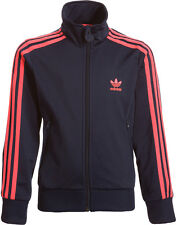 SIZE 18/24 MONTHS - ADIDAS 3 STRIPE FIREBIRD FULL ZIP TRACK TOP - NAVY/PINK