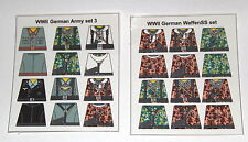 Custom 24 stickers german soldiers  2 sets - set 3 + waffen ss SIZE - lego torso