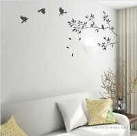 Wall Stickers Tree Flower Kids Art Murals Decals Butterfly Vinyl Decors--D432
