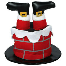 Christmas Santa Claus Stuck in the Chimney Hat Fancy Dress Costume Accessory