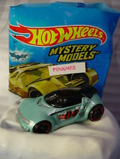 2017 Mystery Models #05 HIGH VOLTAGE∞light blue;red rim pr5∞Sticker∞Hot Wheels∞