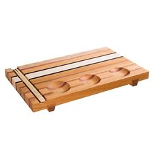 BRAND NEW ORIGINAL WOODEN SERVING SUSHI BOARD SOLID ASH TREE, MAHOGANY AND MAPLE
