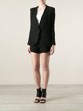$595 New Helmut Lang Women Smoking Wool Jacket Blazer in Black Size 6