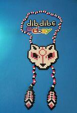Wolf, Okami perler kandi necklace, rave, PLUR, EDC, EDM, art