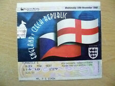 Tickets/ Stubs- 1998 ENGLAND v CZECH REPUBLIC, 18 Nov