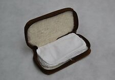Vintage Thick Distressed Brown Leather Fly Fishing Wallet Sheep Skin Lining