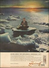 1956-Vintage Ad for Smirnoff Vodka`Ice Berg/Emergency Kit (021415)