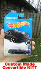 2017 Hot Wheels Knight Rider KITT Convertible CUSTOM MADE K.I.T.T. HotWheels KR