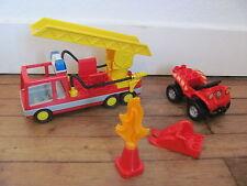 LEGO DUPLO @@ Lot de Véhicules de Pompier @@ Fireman Quad Truck @@ TBE