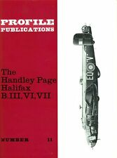 H.P. HALIFAX: PROFILE #11/ 6 ADDED PAGES + A3 CUTAWAY & PIC/ NEW-PRINT FACSIMILE