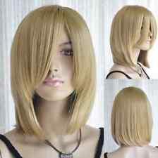Hot Sell! Long Bang Gold Blonde Medium Straight Cosplay Hair Wig