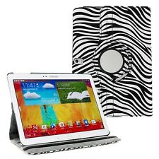 Zebra 360 Rotating PU Leather Case Cover for Samsung Galaxy Note 10.1 2014 P601