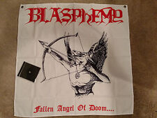 BLASPHEMY - Fallen Angel of Doom.... cloth poster flag/tapestry 36x36 inches
