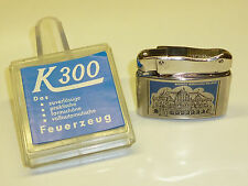 K 300 (KOMET) DBGM 60 POCKET LIGHTER WITH LACQUER MOTIVE - 1960 - OVP - GERMANY