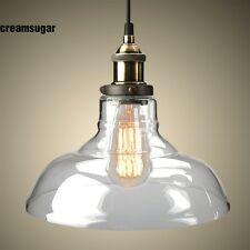 Vintage Industrial Light Edison Pendant Ceiling Fixture Glass Shade Hanging Lamp