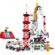 Building Blocks Toy Tech Rocket Spacecraft Airplane Space Station Launch Pad Set