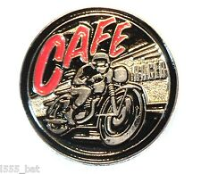 Classic 1960's Cafe Racer British Motorbike Ton Up Boy Metal TT Motorcycle Badge