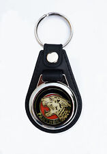 PANTHER MOTORCYCLES FAUX LEATHER KEY RING / KEY FOB.