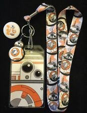 Disney / Star Wars BB- 8 Lanyard With BB-8 Button Pin.
