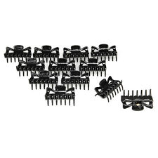 12pcs Women Ladies Hair Claw Clip Jaw Clamp Hairpin Plastic Chic Black
