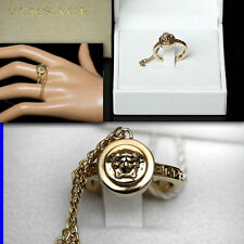 GIANNI VERSACE Ladies GOLD MEDUSA RING w/ Box & Tag (8)