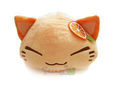 FuRyu Nemuneko Cute Fluffy Neko Cat Big Cushion Plush AMU7252 ~ Neon Orange