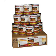Survival Cave Food Canned Ground Beef - Food Storage 12 Cans - 28 oz each