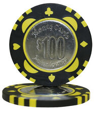 50pcs Monte Carlo Coin Inlay Poker Chips $100