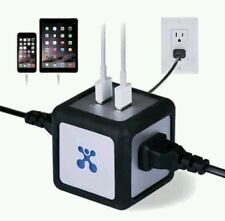 Atomi Power Cube Dual Usb Charger and Outlet NEW