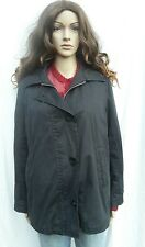 Gloverall Navy Blue Coat Jacket Removable Plaid Wool Lining Vintage 10-12
