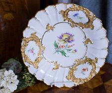 """The Purple Pageant"" Meissen  Porcelain Pageant Cabinet Plate"