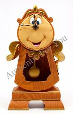 IN HAND NEW Disney Parks Beauty & Beast COGSWORTH Working CLOCK Figurine in Box