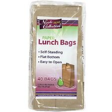 40 Brown Kraft Paper Lunch Bags Grocery Merchandise