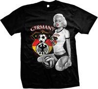 Germany Fußball Marilyn Deutschland Eagle Football Soccer Mens T-shirt