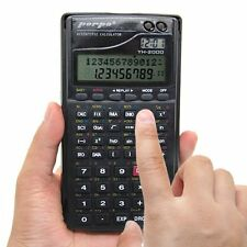 358 Function Statistics Fraction Electronic Scientific Calculator With Clock NEW